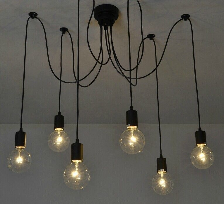 Vintage Edison Pendant Ceiling Lights Chandelier Modern Chic Industrial Dining 6