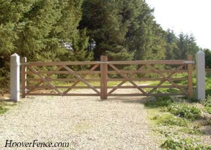 Five Bar Gates Hoover Fence Co Ornamental Wooden Gates For Pedestrian And Vehicular Use Oxford And Cambridge Styl Wood Gate Wooden Gates Wood Fence Gates
