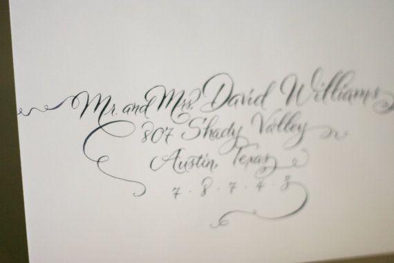 Wedding invitation calligraphy modern envelope handwritten in a wedding invitation calligraphy modern envelope handwritten in a contemporary script stopboris Gallery