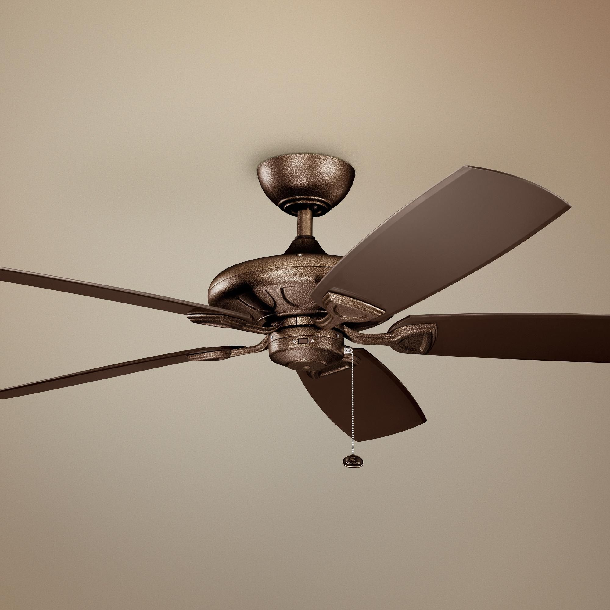 Ceiling Fans 60 Kichler Kevlar Climates Copper Outdoor Ceiling Fan In 2020 Outdoor Ceiling Fans Ceiling Fan Best Outdoor Ceiling Fans