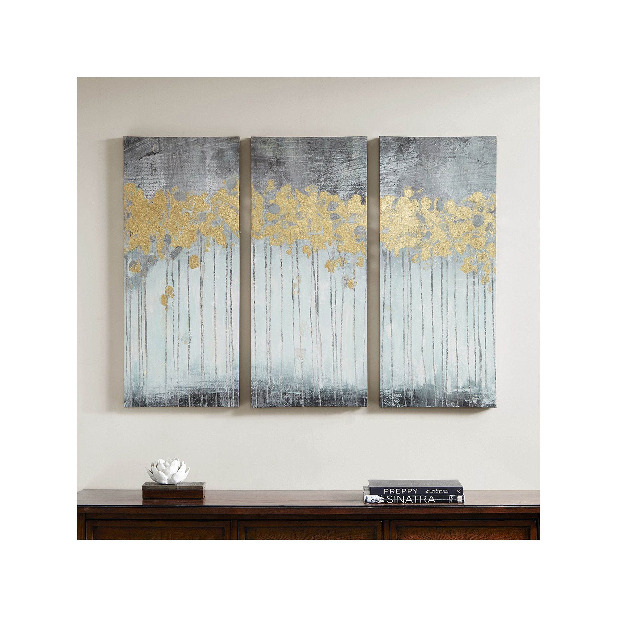Madison Park Evening Forest Canvas Wall Art 3 Piece Set