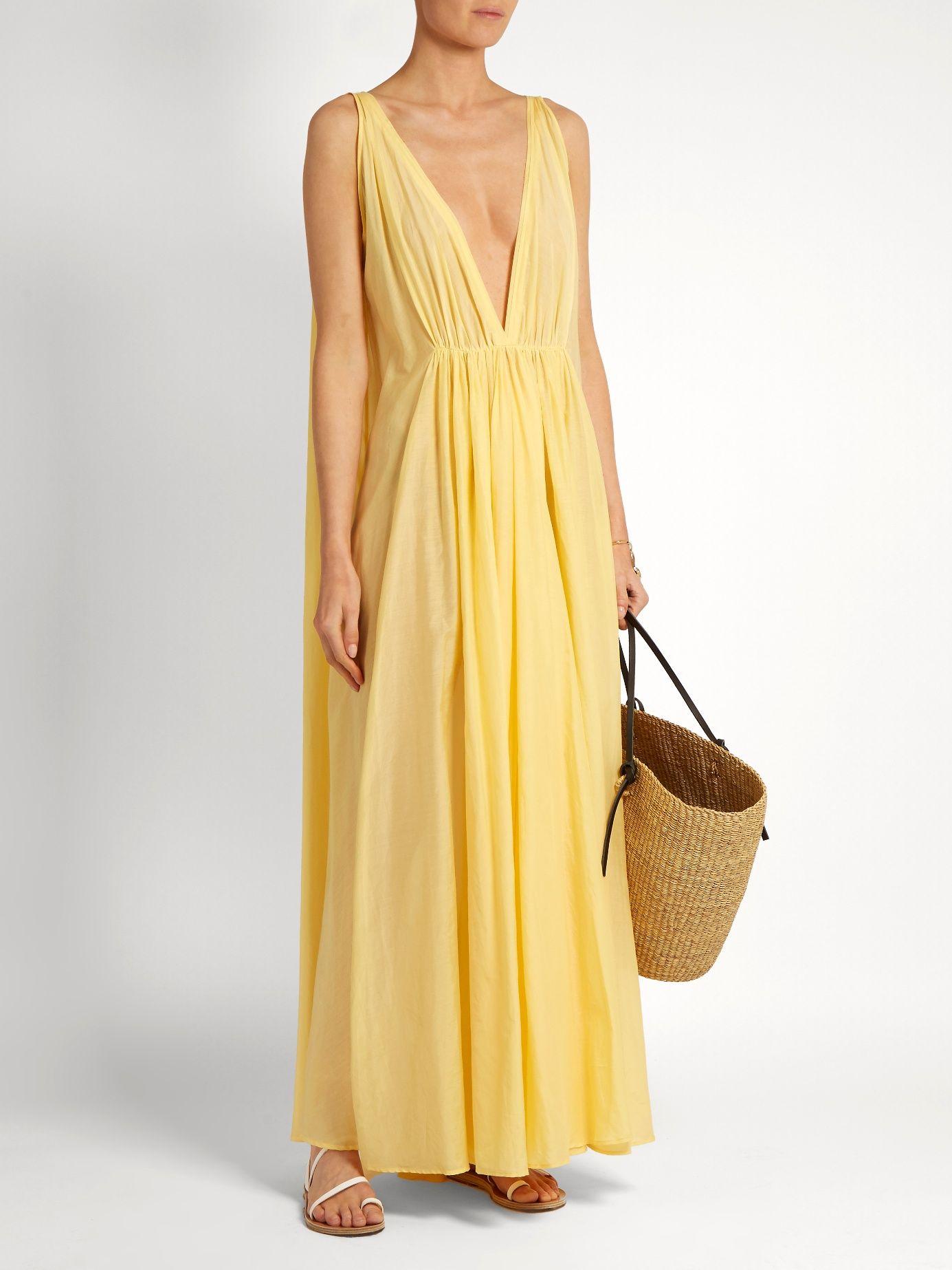 Clemence cotton and silk maxi dress Kalita FduIb