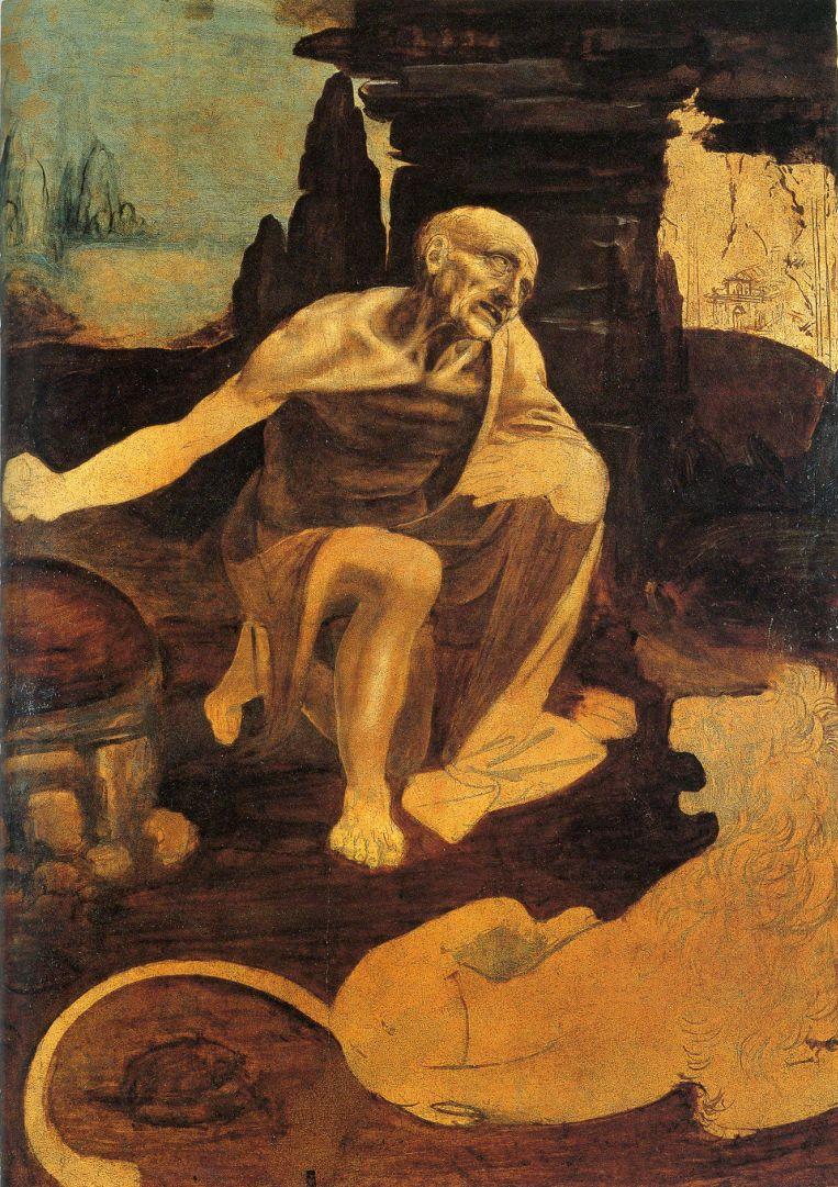 Leonardo Da Vinci, St Jerome, (ca 1482), tempera and oil on wood; 102.8 x 73.5 cm. Vatican City, Vatican Museums