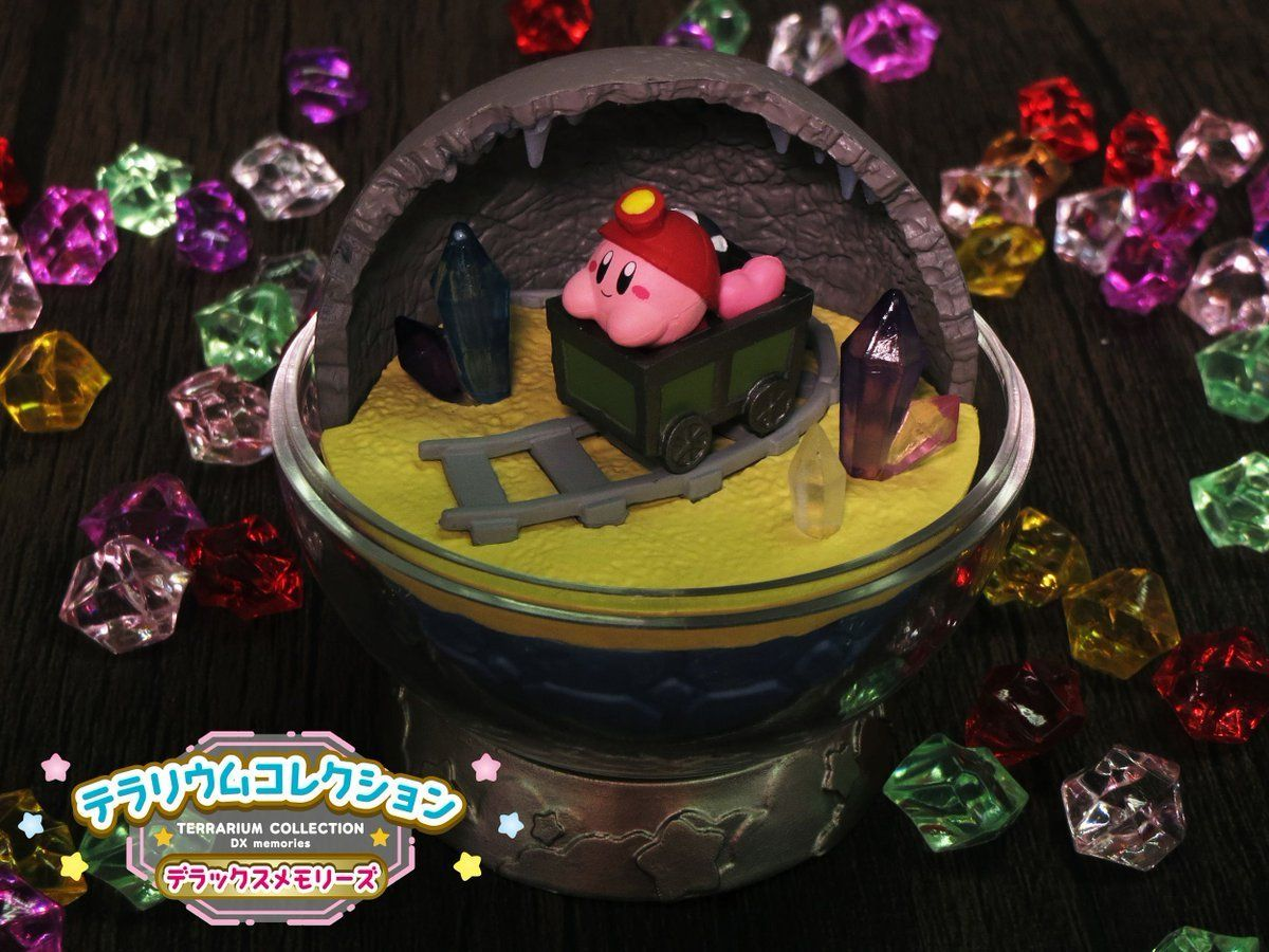 Re-ment just released a new set of Kirby Terrarium Figures -