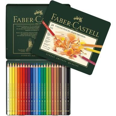 Polychromos Colored Pencil Set In Metal Tin 24pc Watercolor