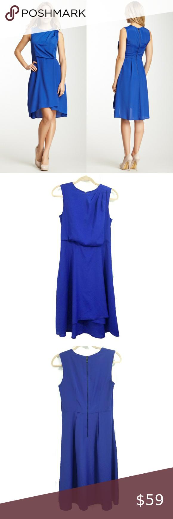 Vince Camuto Sleeveless Pleated Cobalt Dress Gorgeous Sleeveless Dress In Striking Bright C Cobalt Dress Cobalt Blue Cocktail Dress One Shoulder Cocktail Dress [ 1740 x 580 Pixel ]
