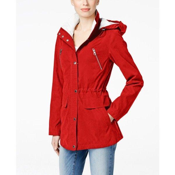 Nautica Petite Hooded Anorak Jacket (615 RON) ❤ liked on Polyvore ...