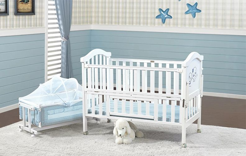 Baby Cot Factory Wholesale Wooden Baby Cribs 292 W India Hot