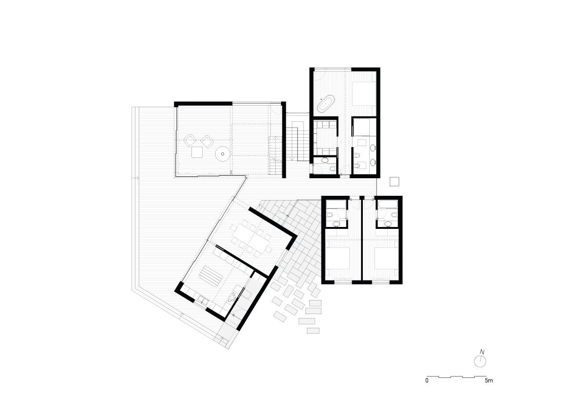 Portuguese Holiday Home By Prod Comprises 4 Gabled Volumes Craftsman Floor Plans Holiday Home Architecture House