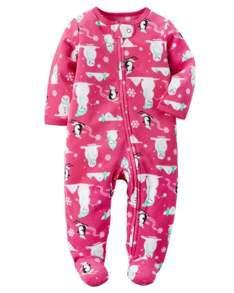 c0024104cab0 Baby Girl Fleece Zip-Up Sleep   Play from Carters.com. Shop clothing ...