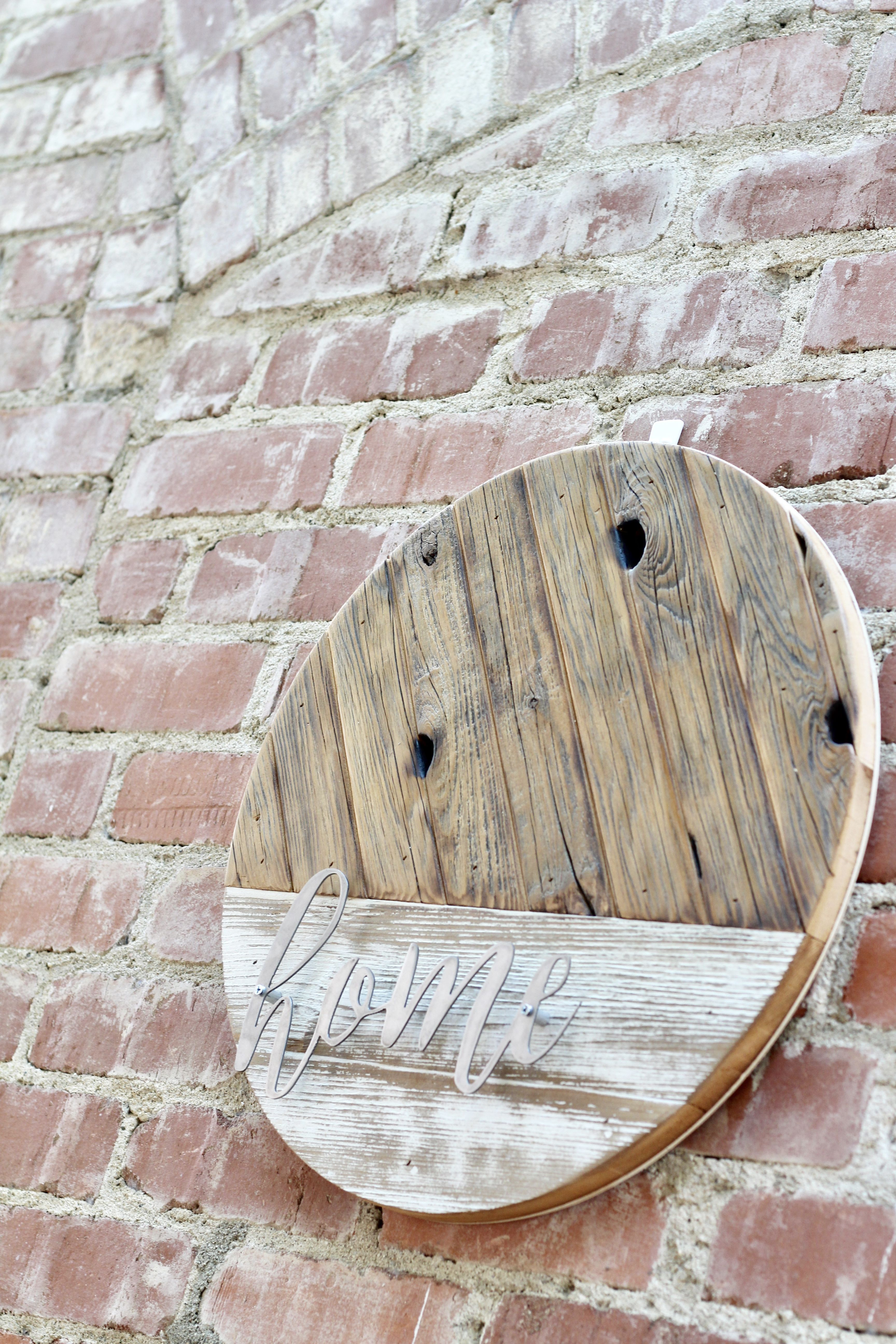 Reclaimed wood round graced designs wall art pinterest