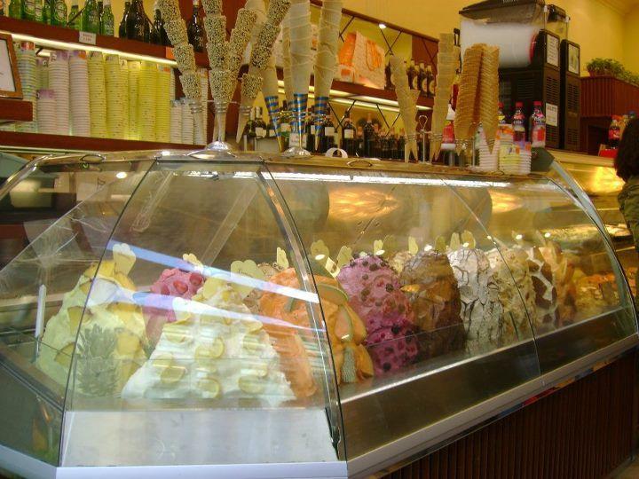 Awesome Presentation In Italian Gelato Shop Gelato