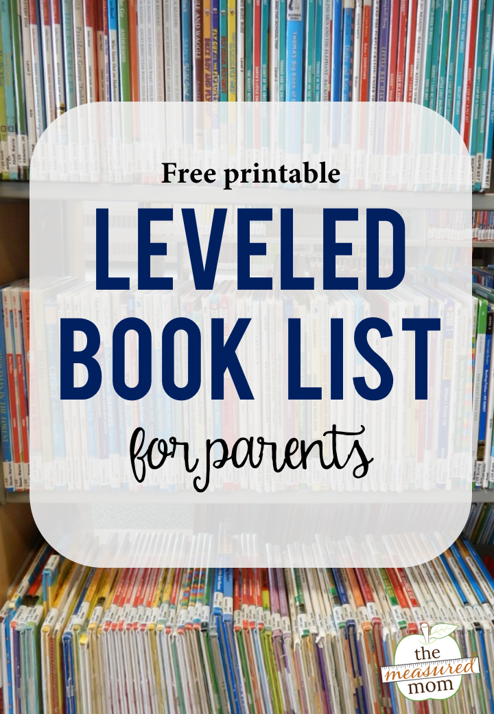 Printable Leveled Book List Guided Reading Books Leveled Books Reading Classroom
