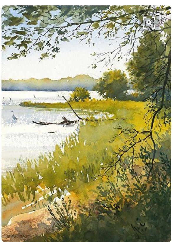 Epingle Par Christian Leroy Sur Eaux Vives Eaux Calmes Peinture