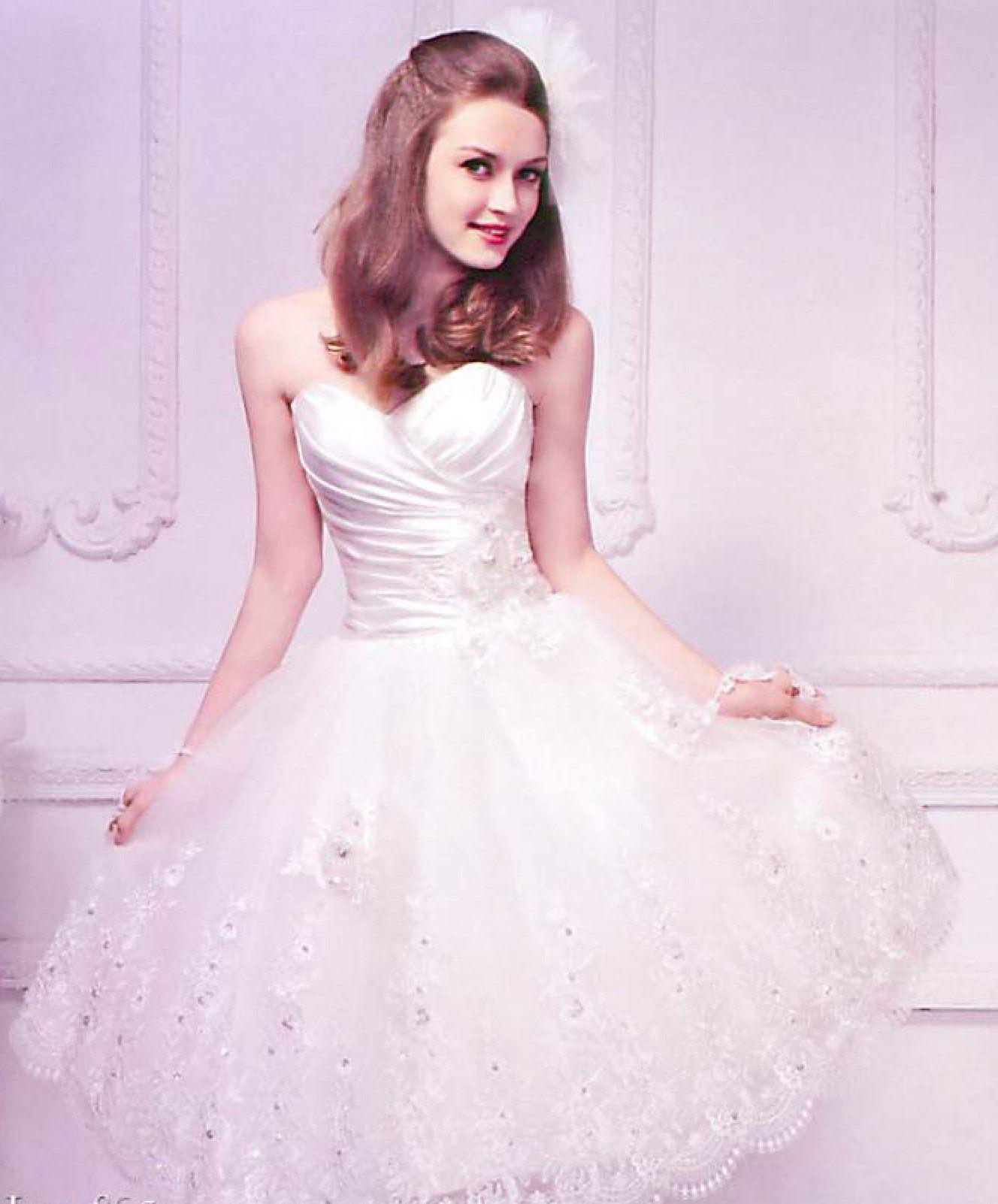 Short lace corset back dresses
