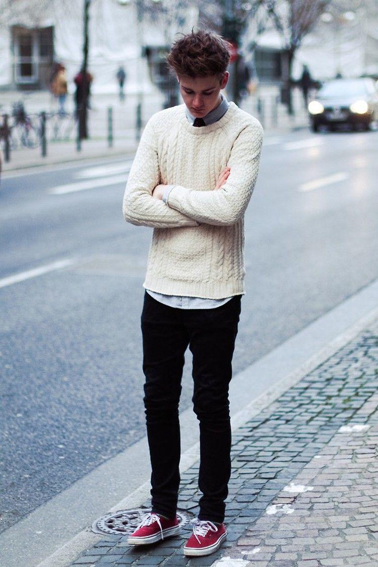 White com detalhes em cor | Mens outfits, Mens street style