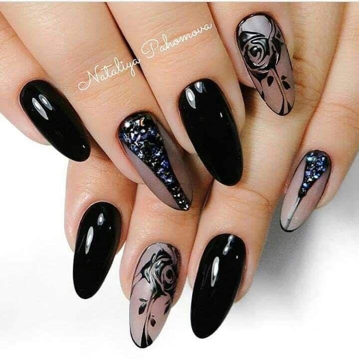 Pin de Ambar en Uñas | Uñas negras, Diseños de uñas y Arte ...