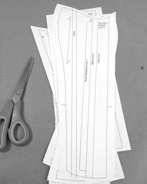PDF Corset Pattern size XS, Printable Victorian Corset Sewing ...