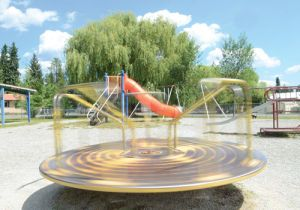 Soroptimist Park in Whitefish features new playground equipment and pesticide-free space for family fun. [Photo by Matt Baldwin at Whitefish Pilot http://www.flatheadnewsgroup.com/whitefishpilot/article_f8fce3fc-f473-11e2-8da2-001a4bcf887a.html] For more info on pesticide-free parks near you, visit http://www.pesticide.org/Our%20Work/pesticide-free-parks