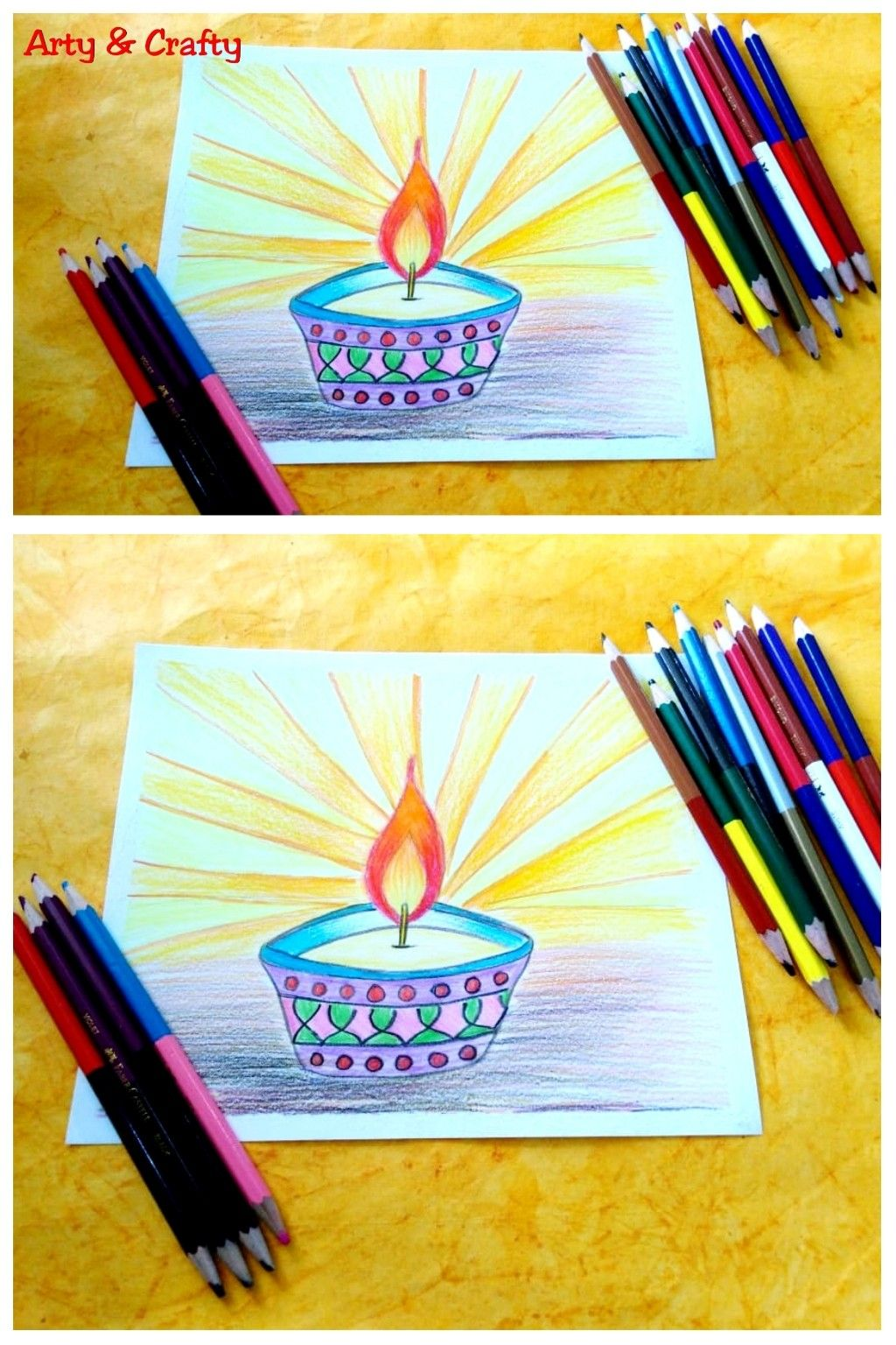 Easy diwali drawing diwali special drawing diwali drawing step by