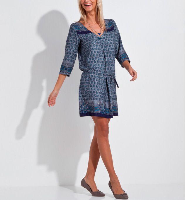 85037ea004c Robe imprimé cachemire et foulard Grain de malice.  cachemire  cashemire   blue