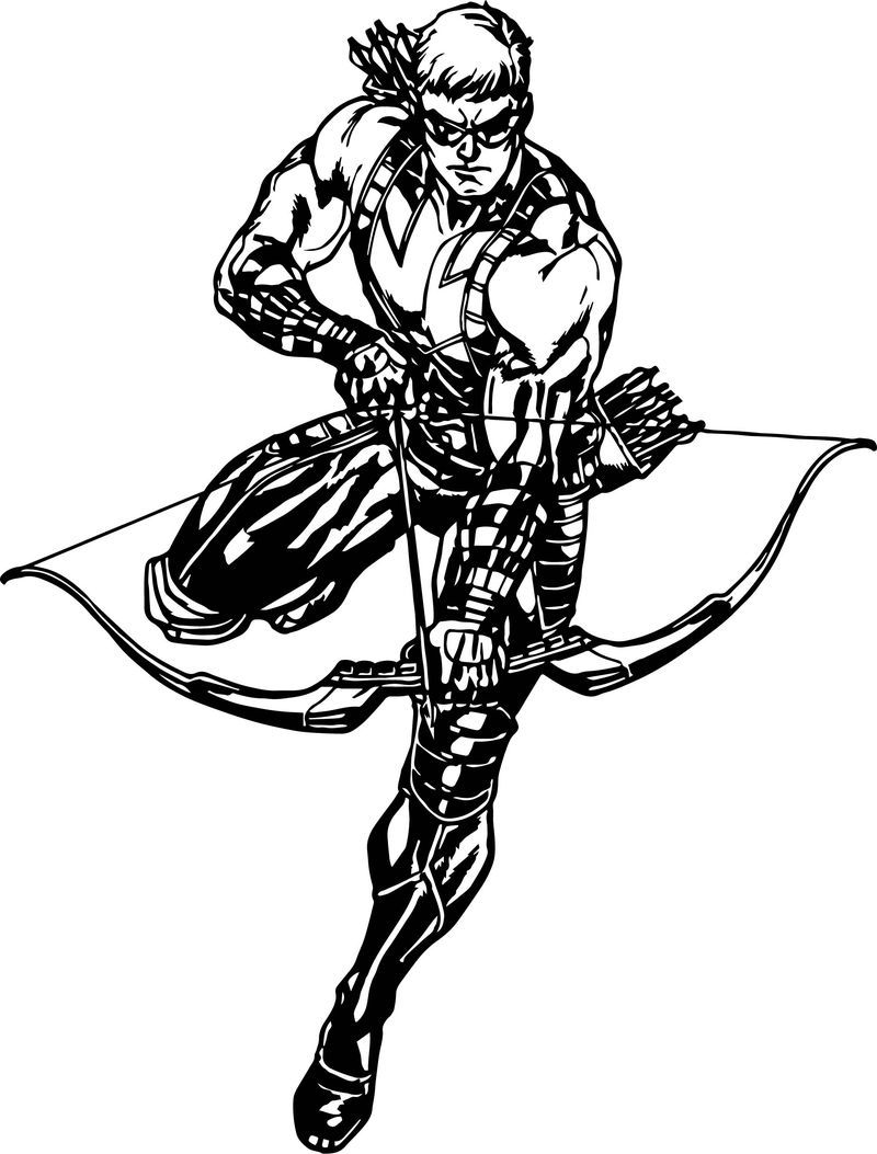 Hawkeye Avengers Assemble Coloring Page di 2020