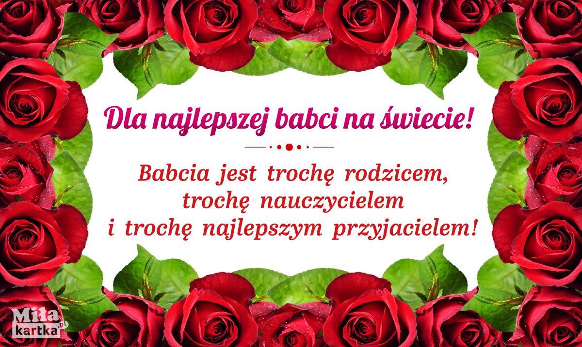 Dla Najlepszej Babci Babcia Dziadek Dziadkowie Rodzina Swieto Emeryt Polska Grandpa Grandma Wnuki Dzienbabci Kwiaty Kocham