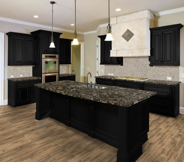 Kitchen Design Visualizer featured in this kitchen visualizer design: cabinet: black