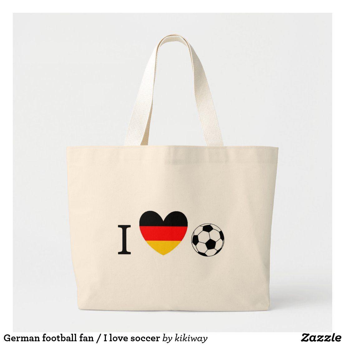 I Love Soccer Tote