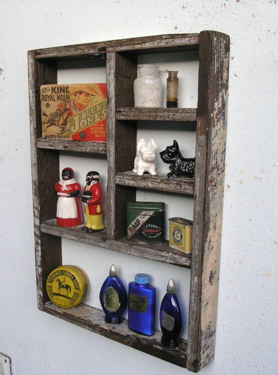 Rustic Wood Shadow Box Shelf Made With By Reclaimedtrends On Etsy