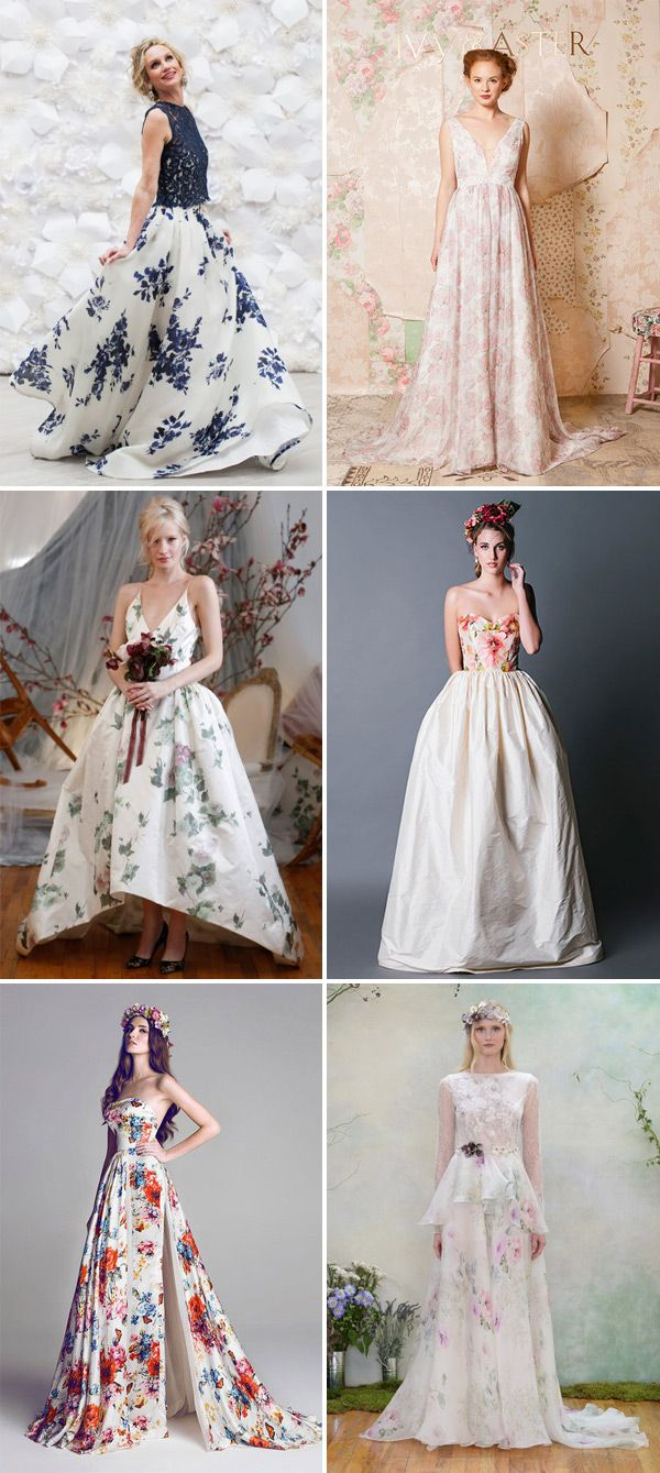 Floral print wedding dresses   Beautiful Floral Wedding Dresses to Inspire  Approximately