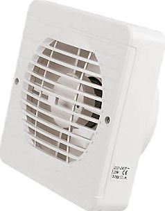 Manrose Xf150bs 25w 6 Ceiling Wall Mounted 150mm Abs Thermoplastic White Square Grille Compliant With P Kitchen Fan Extractor Fans Kitchen Extractor Fan