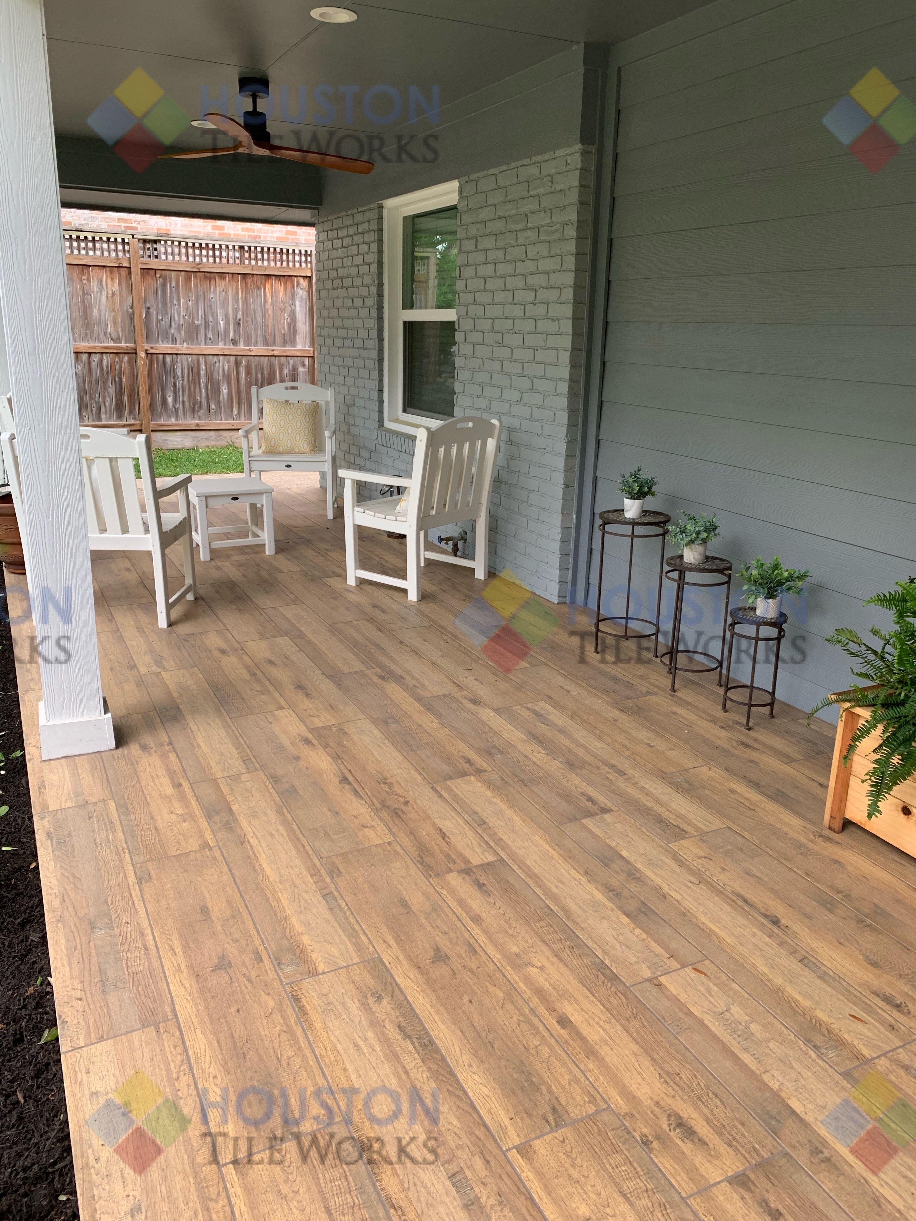 porch tile wood look tile