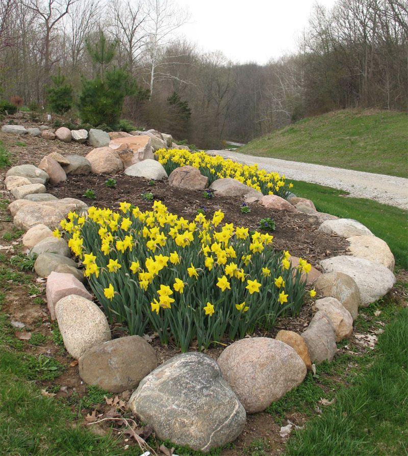 Rock Garden At Top Of Driveway