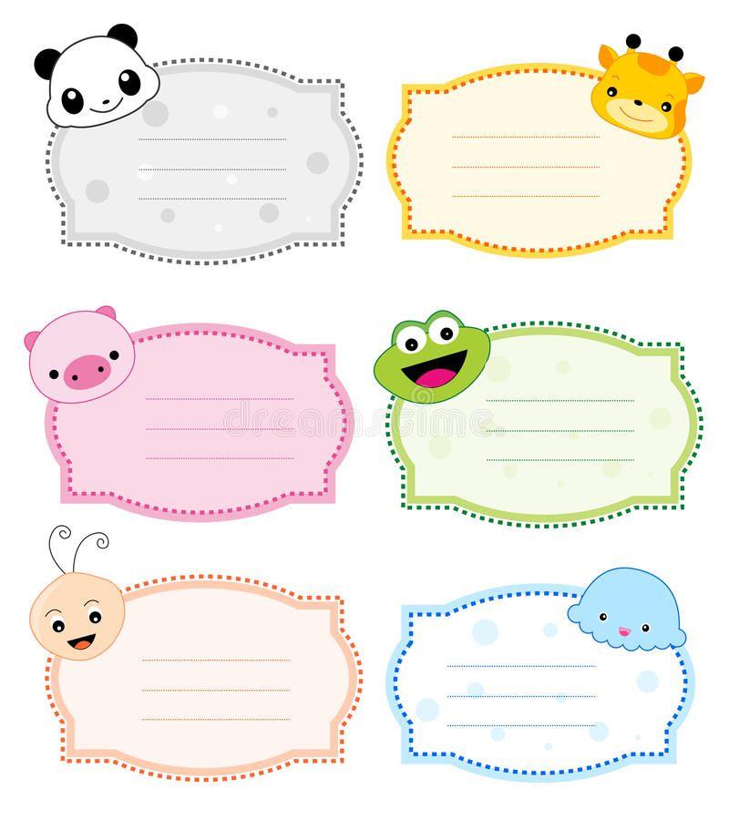Animal Label Frame Stock Photo Image 21614900 Tags Nametags