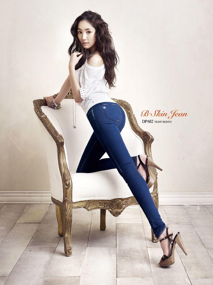 Park MinYoung #박민영 for B-Skin Jeans photoshoot 120101 진화보 #몸매