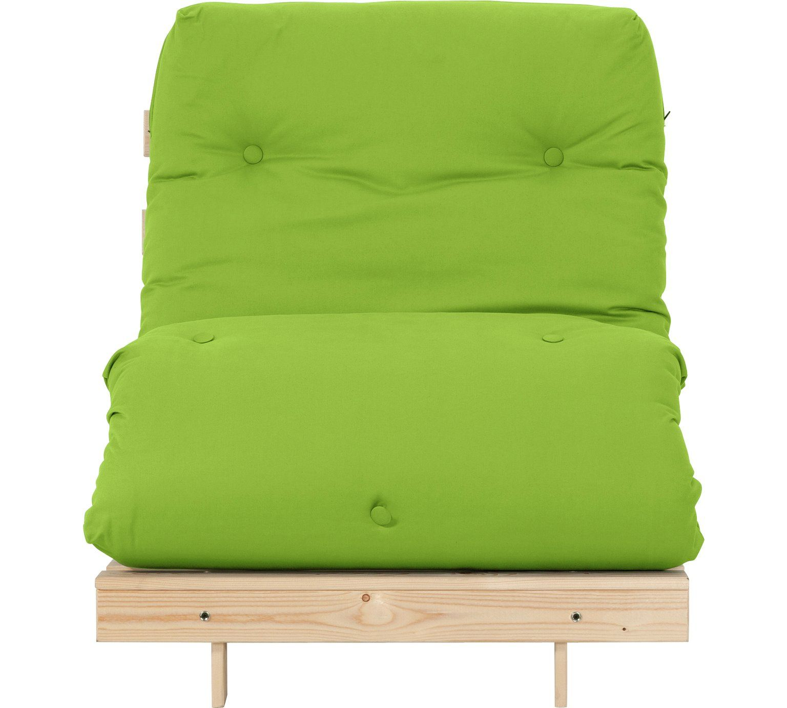 Buy HOME Single Futon Sofa Bed with Mattress Green