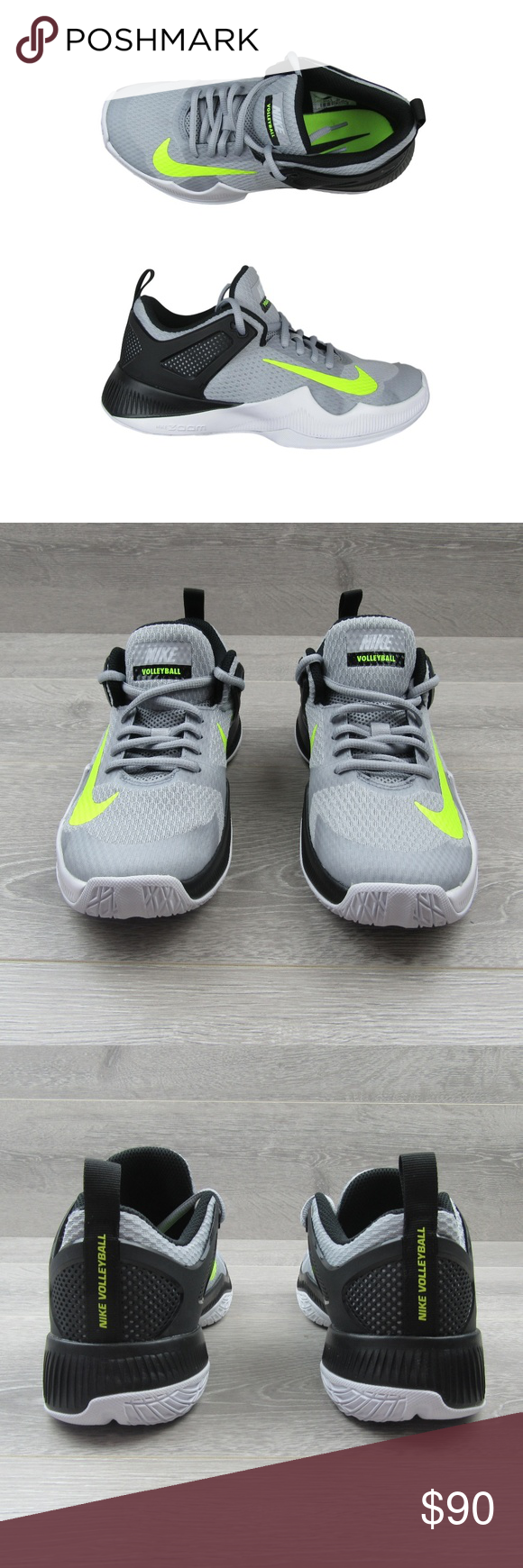 bf7d9d57e6a5 Nike Air Zoom HyperAce Size 7 Volleyball Shoes PRICE IS FIRM - NO OFFERS  PLEASE - Nike Air Zoom HyperAce Womens Volleyball Shoes Gray Volt 902367  007 ...