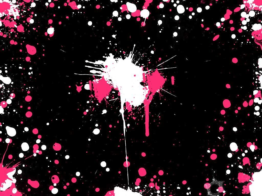 Forced Hot Pink Wallpaper Black Background Wallpaper Pink