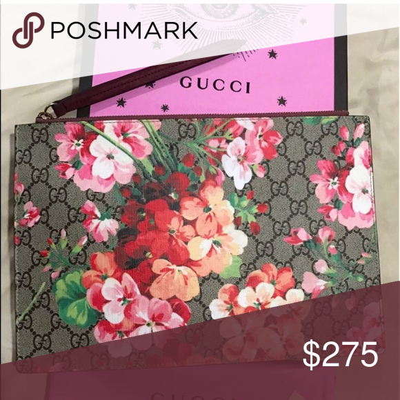 b81bbdcd GUCCI BLOOMS FLORAL CLUTCH BAG Brand new. Comes with box and dust ...