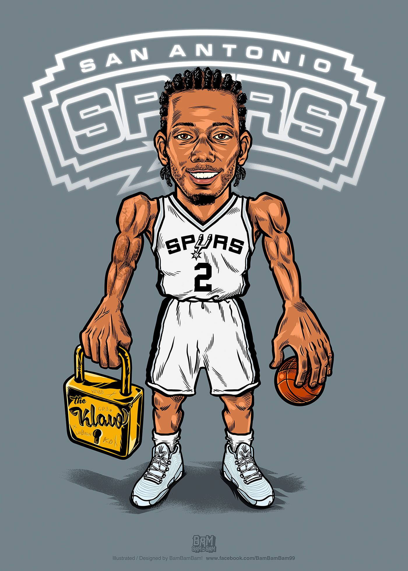 Kawhi Leonard 'Lockdown D' Illustration | NBA | Nba ...