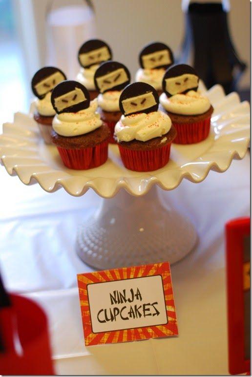 Ninja party...half of an oreo with sprinkle eyes