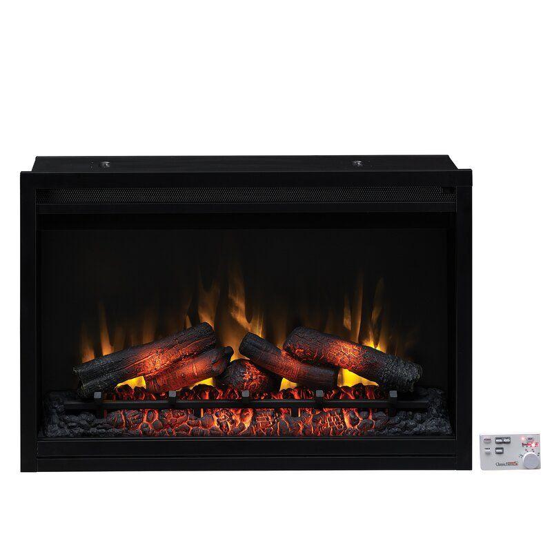 Winston Porter Biskoupky Traditional Electric Fireplace Insert Reviews Wayfair Realistic Electric Fireplace Electric Fireplace Insert Fireplace Inserts Electric fireplace logs with heat