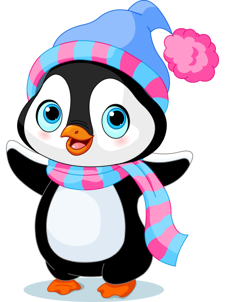 cheerful penguin penguins winter and clip art rh pinterest co uk winter clip art free 2018 winter clip art free