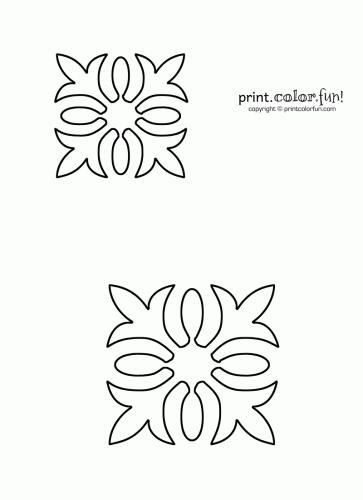 Free Quilting Stencils Hawaiian quilt stencil Print Color
