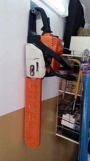 Photo of Speicherkettensäge in der Garage #garageideasstorage Speicherkettensäge in der…