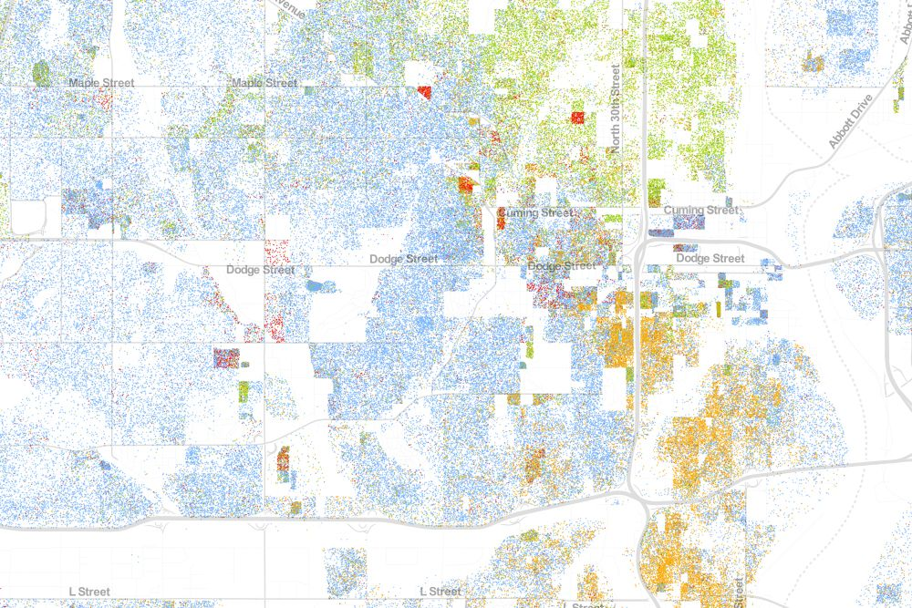 Map Of Americas Racial Segregation.The Best Map Ever Made Of America S Racial Segregation Segregation