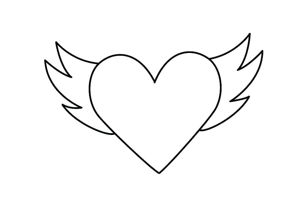 Coloring Pages Angel Wings Coloring Pages Angel Wings Coloring Pages Hearts With Large Anatomy And Ph Heart Coloring Pages Shape Coloring Pages Heart Printable