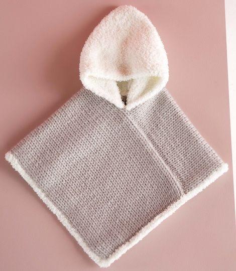 Un poncho tricoté pour bébé #babyponcho