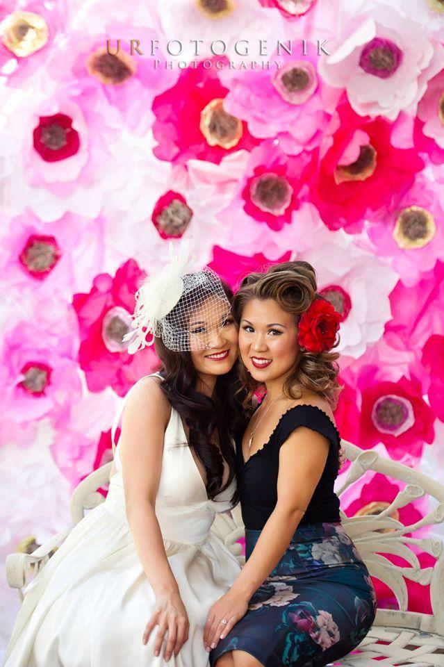 #BridalShower #DIY #tissuepaperbackdrop #party #decor #craftsbycynabon #hotpink #bachelorette #mrskeiner @nysnow #tissuepaperflower #tissuepaperpompom
